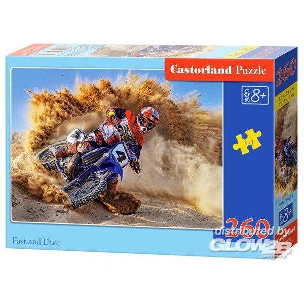 Motocross im Sand Puzzle 260 Stück