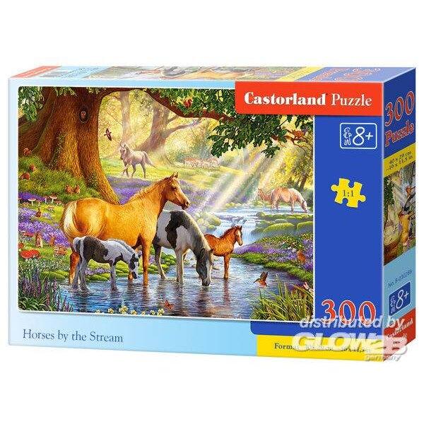 Pferde in der Nähe des Baches Puzzle 300 Stück