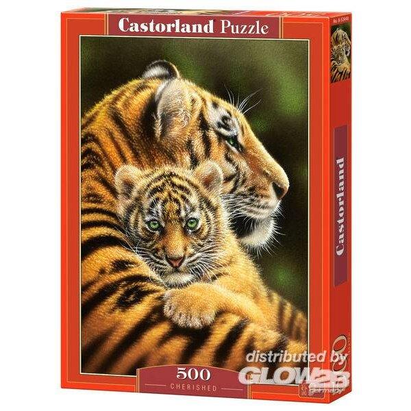Tiger Baby mit seiner Mutter Puzzle 500 Stück