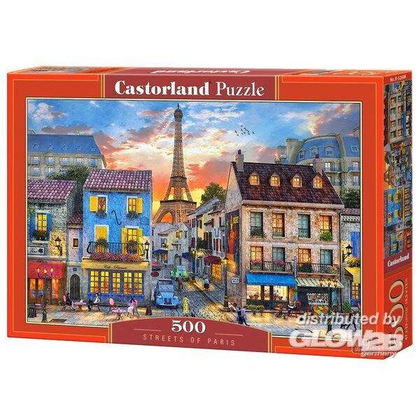 Die Straßen von Paris Puzzle 500 Stück