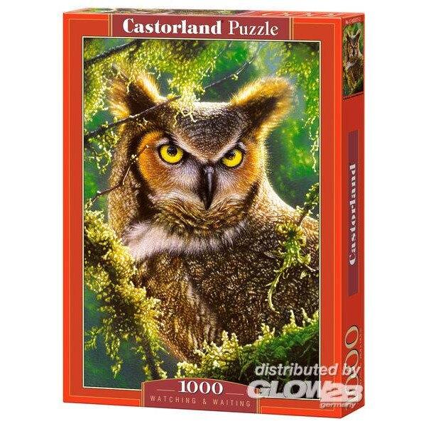 Eule, die schaut und wartet Puzzle 1000 Stück