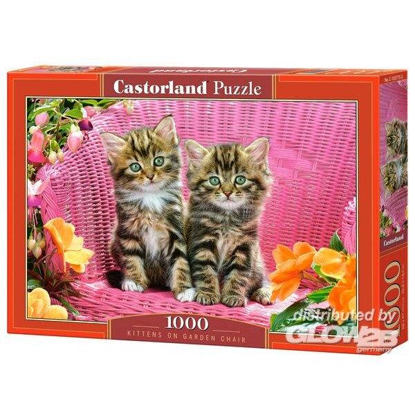 Kätzchen auf dem Gartenstuhl Puzzle 1000 Stück