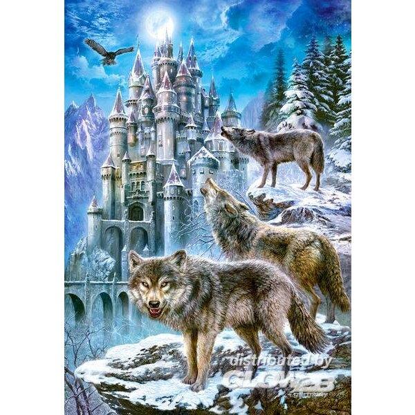 Wölfe bei einer Burg Puzzle 1500 Stück