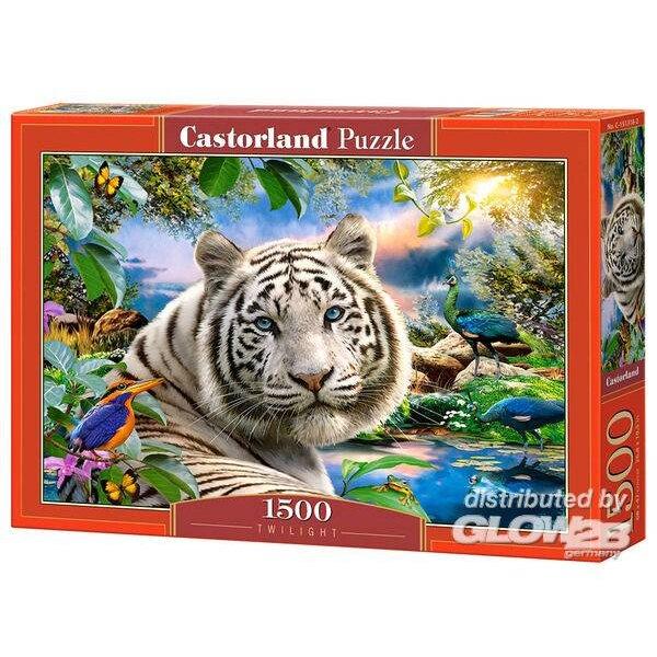 Weißer Tiger in der Dämmerung Puzzle 1500 Stück