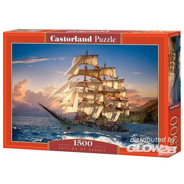Segeln bei Sonnenuntergang Puzzle 1500 Stück