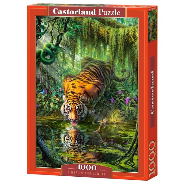 Tiger im Dschungel Puzzle 1000 Stück