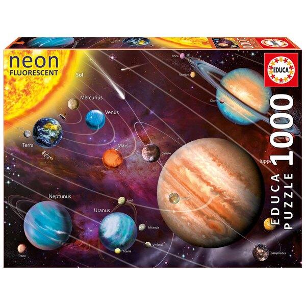 Sonnensystem (fluoreszierend) Puzzle 1000 Stück