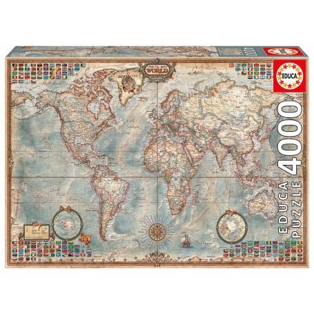 Puzzle Weltkarte Puzzle 4000 Stuck Educa 14827 Grosse