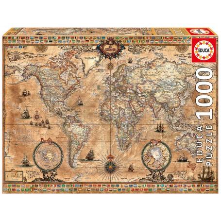 Puzzle Weltkarte Puzzle 1000 Stuck Educa 15159 Grosse