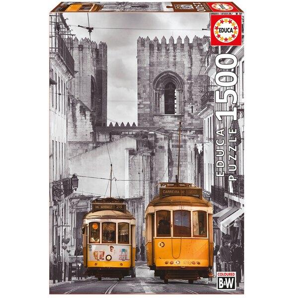 """Alfama Viertel , Lissabon """"black and white"""" Puzzle 1500 Stück"""