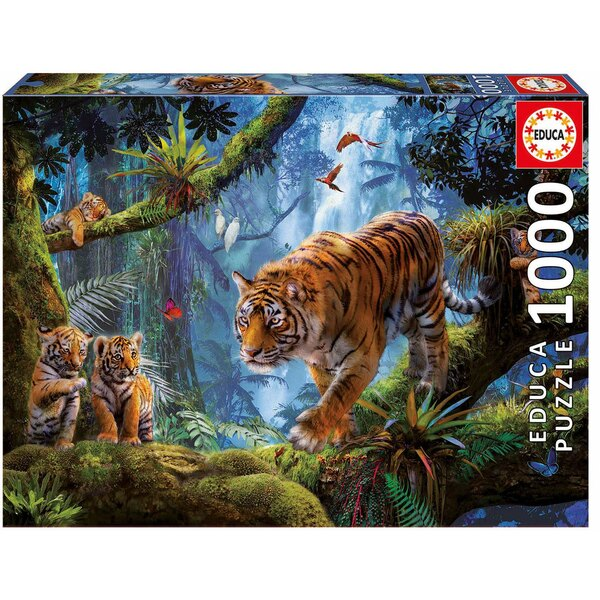 Tiger auf dem Baum  Puzzle 1000 Stück