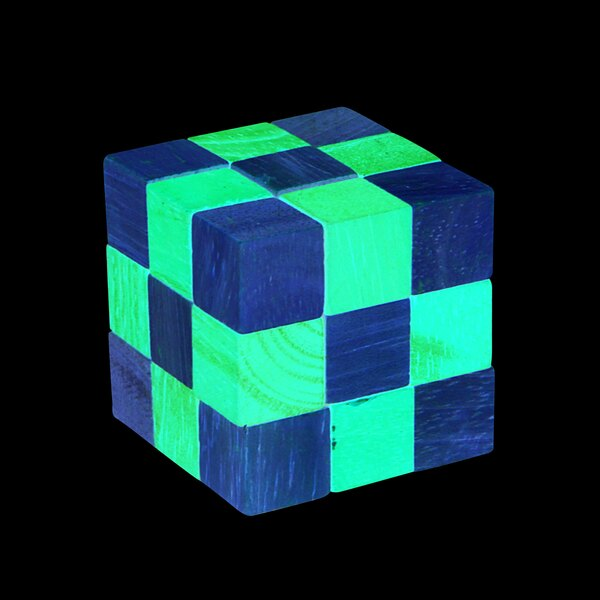 Puzzle Schlange - rot