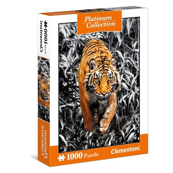 Tiger - Platinum Collection 5 (Schwarzweiß) Puzzle 1000 Stück