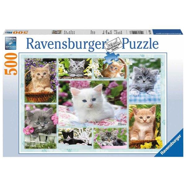 Kätzchen in ihren Körben Puzzle 500 Stück