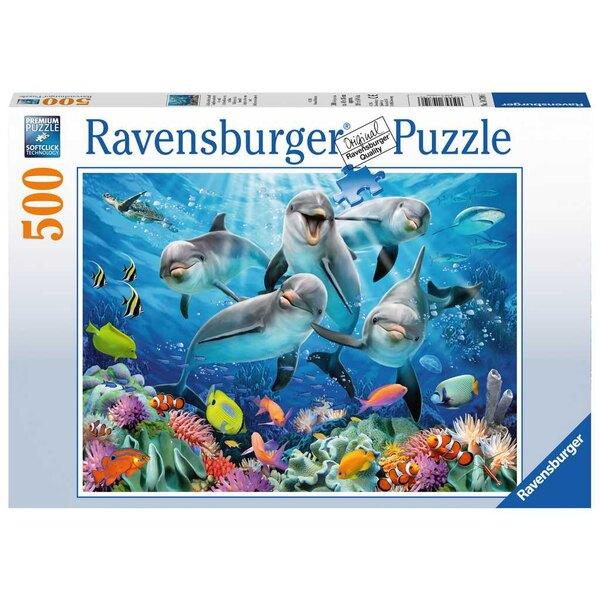 Delphine auf dem Korallenriff Puzzle 500 Stück