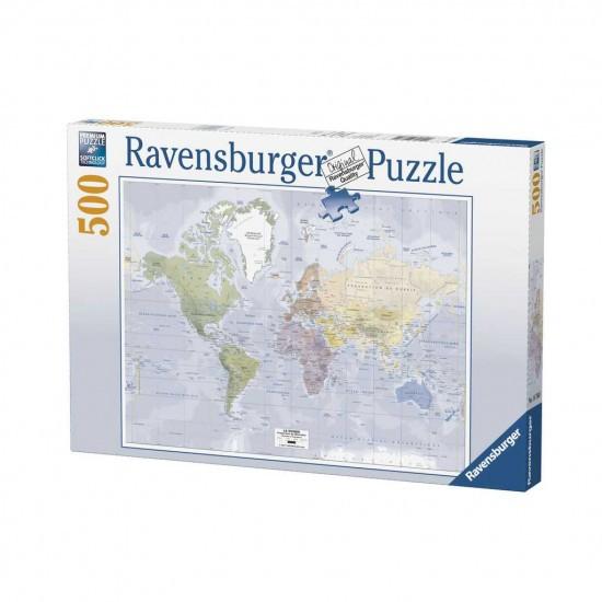 Eragon Karte.Puzzle Karte Der Welt Puzzle 500 Stück Ravensburger 147601